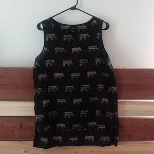Elephant pattern high low tank